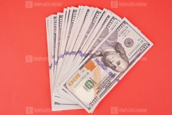 Many hundred US dollars on red