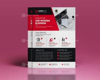 Clean Business PSD Flyer Template