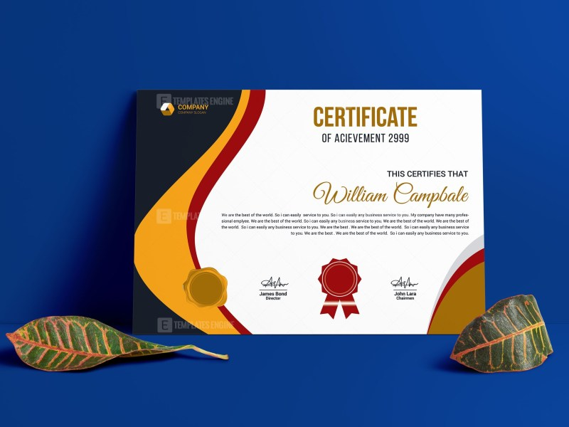 Customizable Certificate Template