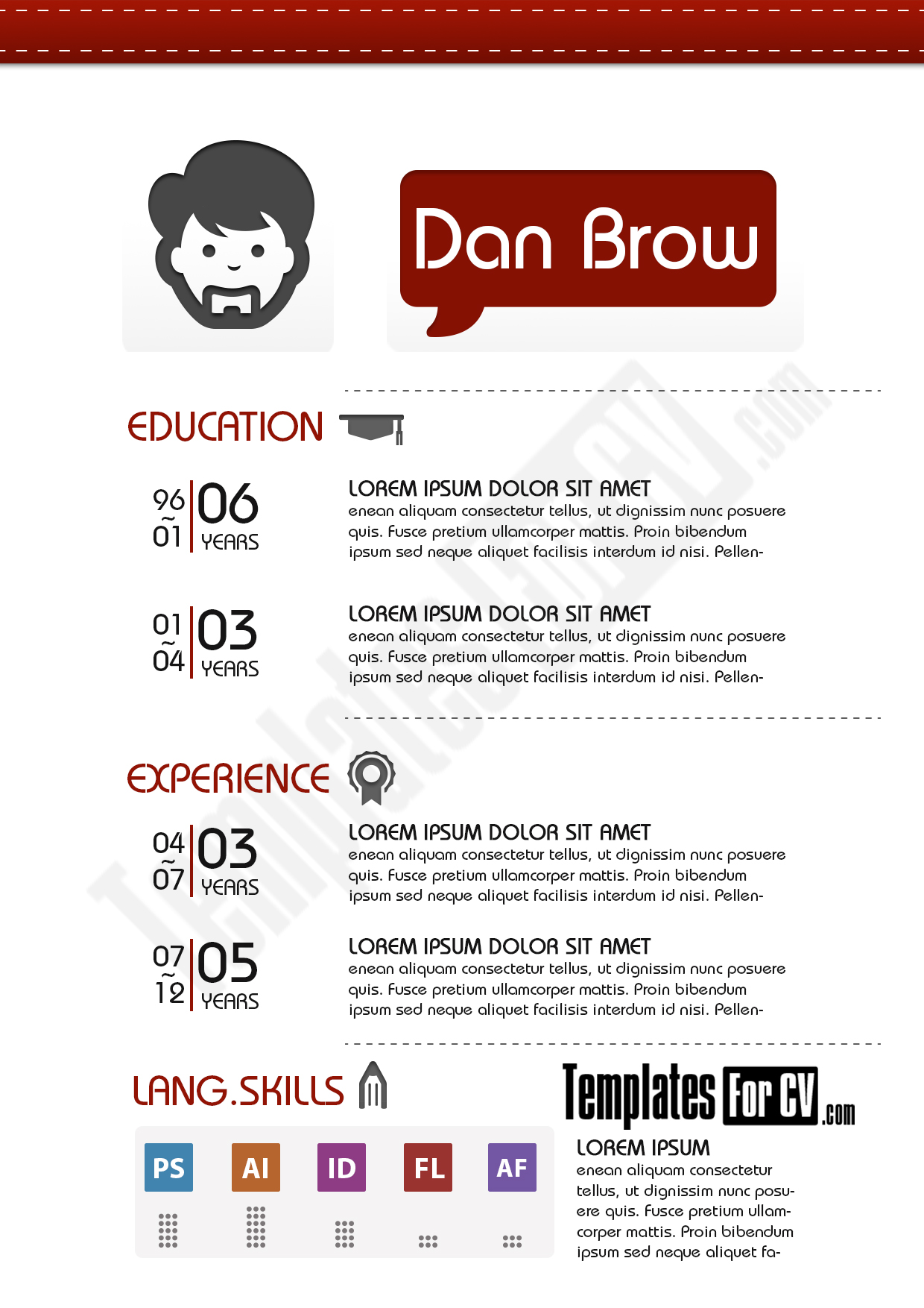 design resume template graphic design resume template decruz design