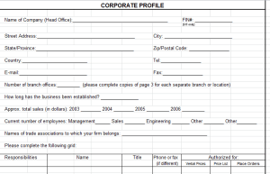 Corporate Profile Template