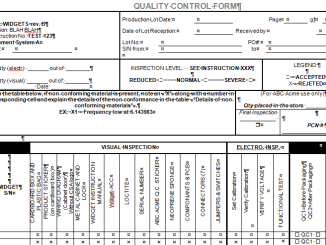 quality control forms