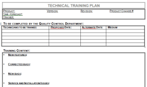 Technical Training Plan