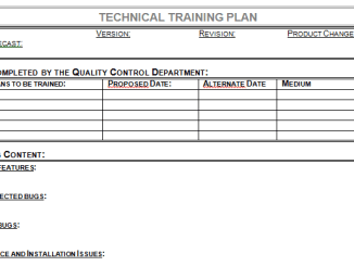 Technical Training Plan