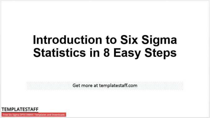 Introduction to Six Sigma Statistics