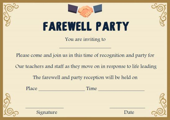 Impactful Ideas For A Farewell Party Invitation