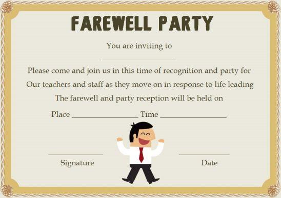 Surprise Farewell Party Invitation