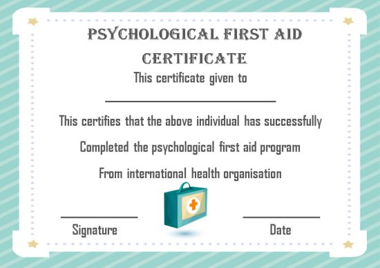 First Aid Certificate Template 15 Free Examples And Sample