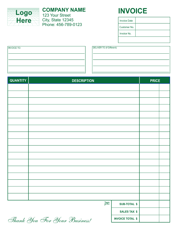 Free Invoice Template Online business invoice sample invoice – Business Invoice Template