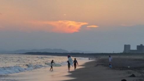 Sunset-Facing South