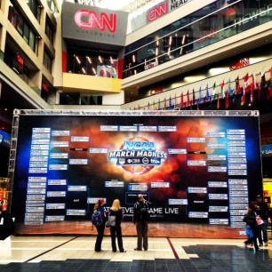 Our giant bracket at CNN Center was definitely a highlight.