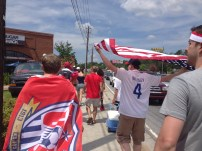 Walking to Brookhaven Park for the USA vs. Portugal match.