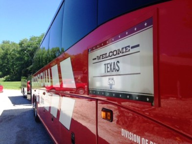 I got to spend Sunday morning with Texas, who held a team BBQ on a lake in Nebraska.