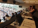 View from the top of the press box.