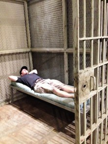 """It's pretty comfortable"" -- the point in the trip I considered leaving Andrew at the prison."