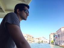 Vaporetto (water bus) in Venice.