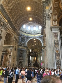 The magnificent hall of St. Peter's Basilica.