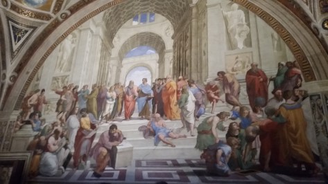 Raphael's School of Athens- the Raphael rooms are an incredible collection of Raphael's frescoes in the Vatican Museums