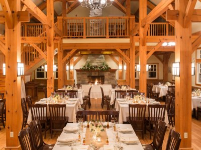 Timberframe bridal venue Temple's in the Ottawa Valley
