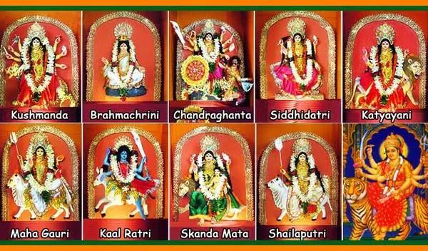 9 Forms Of Durga | Navadurga Devi Forms | Maa Navdurga | Nine Goddesses |  Nine Goddess -