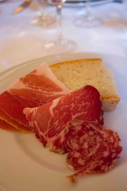 One of the dishes from the traditional Italian meal