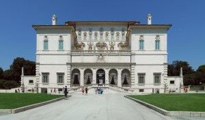 Here's the entrance to the Galleria Borghese. Gorgeous, right?