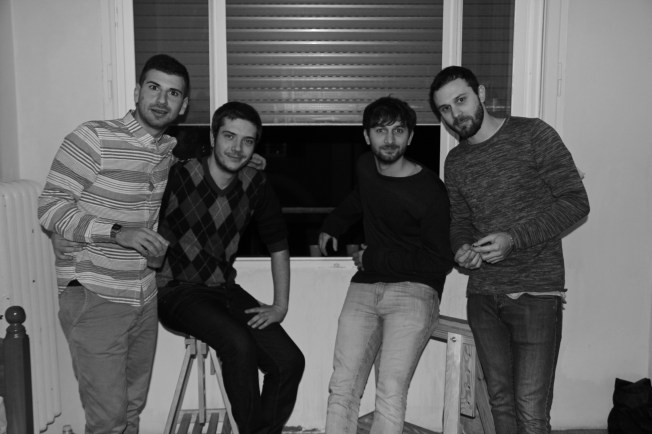The Italian Boys on their first thanksgiving