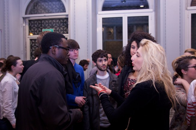 Students from St. Johns came to the event to meet some Italians (or maybe just Italian girls...)