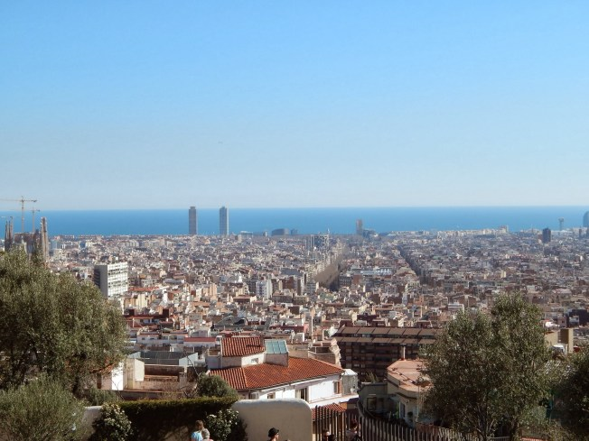 View of Barcelona from the top of Hill Carmel.