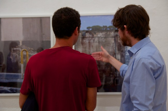 Discussing the photograph