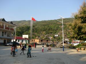 All of the kids in Nanpen village loved playing basketball, jump rope, and other games with the IES students.