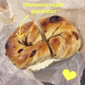 マルイチベーグル -- See how glorious this giant bagel looks! <3