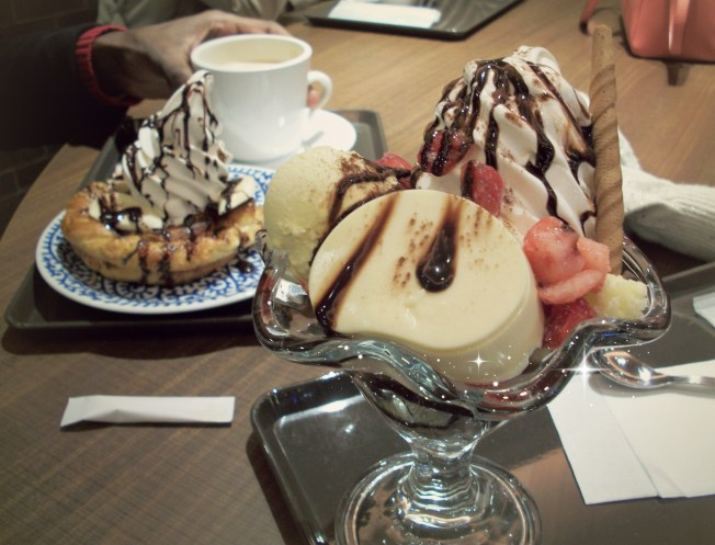 Ice cream from St. Marc's and a beautiful pastry behind it!