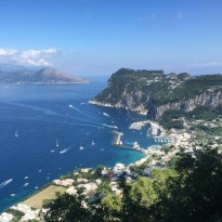 View walking down from the top of Capri