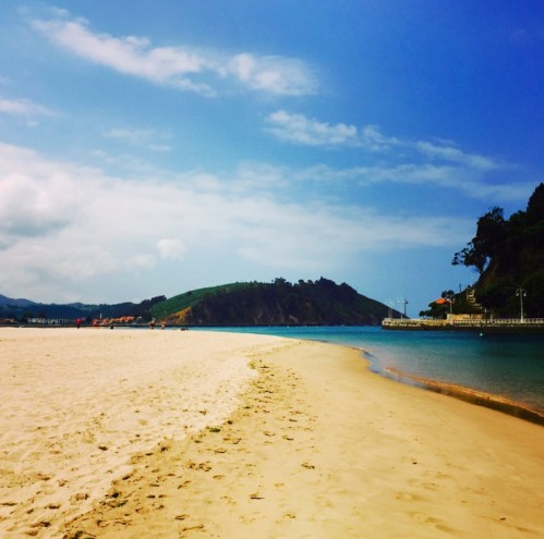Playa de Santa Marina, located in the northern coastal town of Ribadesella