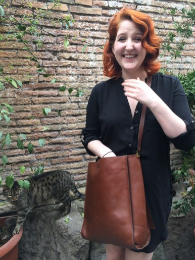 visiting the cats at Torre Argentina!