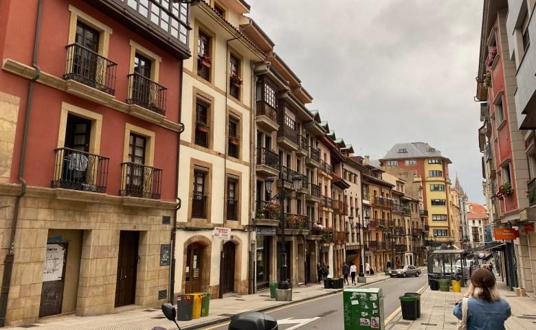 Downtown in Oviedo, Spain
