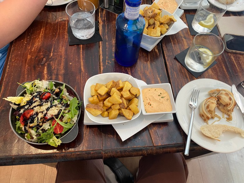 A spread of traditional Spanish tapas-- one of my favorite meals I've had while in Spain