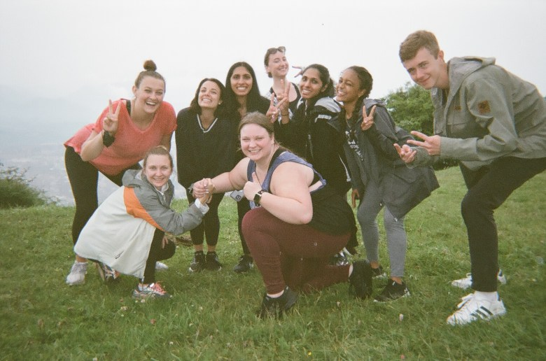 One of my more distant memories from the program-- our group at the top of Mount Naranco during our orientation week; a photo taken on my disposable camera