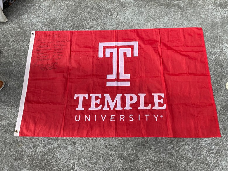 Our Temple flag; the third flag used in the history of the Oviedo program, and we're the first class to sign!