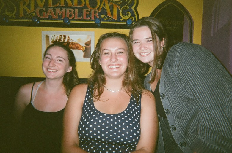 Anya, Aurora and I. These are two individuals of many that I am so grateful to have met; a photo taken on my disposable camera