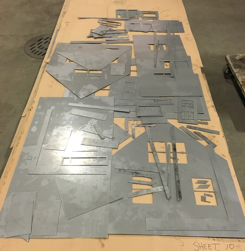 Pieces cut and ready for assembly