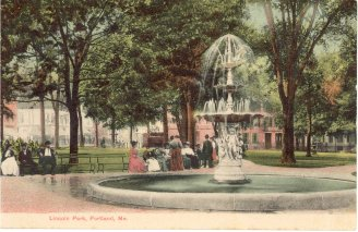Postcard of Lincoln Park, Portland, Maine: circa 1890s