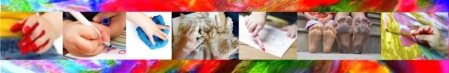 campos de experiências criancas pintando, atividades ludicas