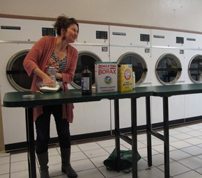 Sean Starowitz at the Walnut Place Laundromat