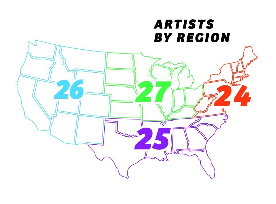 Artist Map by Region