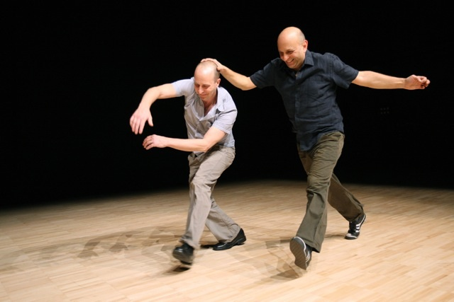 Performance still of Quiet Dance by Jonathan Burrows and Matteo Fargion. photograph taken by Alastair Muir.