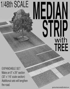 """Gary Kachadourian. 1/48 Scale Median Strip, 2015. Laser printed 5 page book. 11"""" x 8.5"""" Self published."""