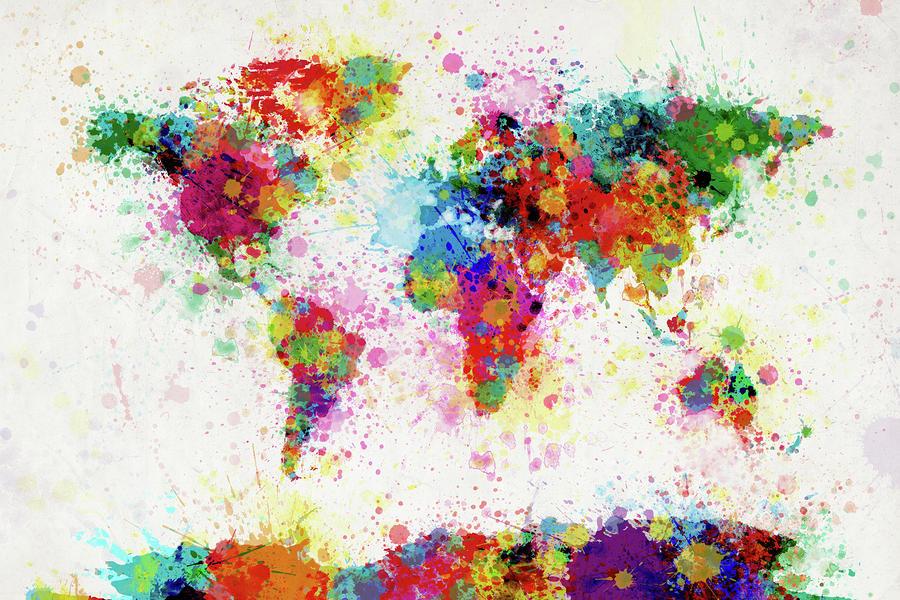 World map by Michael Tompsett (Via)
