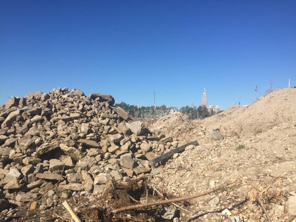 Hunter's Point construction, September 2015